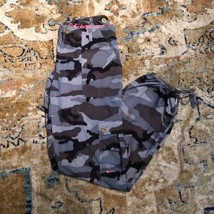 Cropped Nike Camo Pants